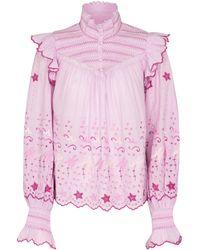 LoveShackFancy Top Kassie aus Baumwolle - Pink