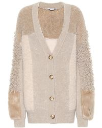 Stella McCartney Cardigan in misto lana - Neutro