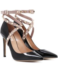 Valentino - Garavani Rockstud Patent Leather Pumps - Lyst
