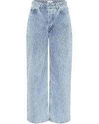 Ganni Jean Large Taille Haute - Bleu