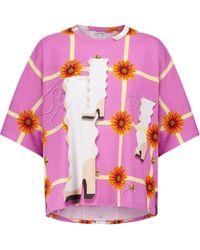 Loewe Camiseta de algodón estampada - Morado