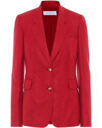 Gabriela Hearst Exclusive To Mytheresa – Sophie Wool, Silk And Linen Blazer - Red