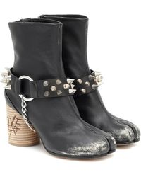 Maison Margiela Studded Tabi Ankle Boots - Black