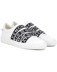 Givenchy Urban Street Slip-ons Aus Leder Und Logo-jacquard - Weiß
