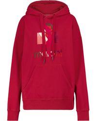 Étoile Isabel Marant Mansel Cotton-blend Jersey Hoodie - Red