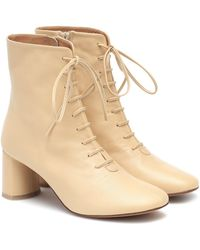 LOQ Agata Leather Ankle Boots - Natural