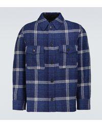 Isabel Marant Gervon Checked Wool Jacket - Blue