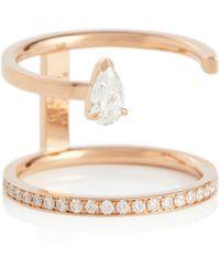 Repossi Ring Serti Sur Vide aus 18kt Roségold mit Diamanten - Mettallic