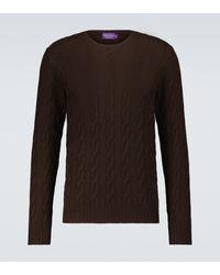 Ralph Lauren Purple Label Jersey de cachemir punto trenzado - Marrón