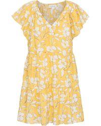 Velvet Kellie Floral Cotton Dress - Yellow