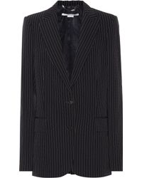 Stella McCartney Striped Wool Blazer - Black