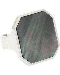 Isabel Marant Shell-embellished Ring - Metallic