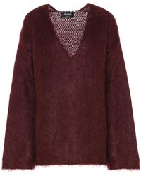 Rochas Pullover oversize in misto mohair - Rosso