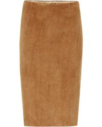 Stouls - Gilda Suede Pencil Skirt - Lyst