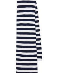 Extreme Cashmere Sciarpa n° 181 Cloth in cashmere a righe - Nero