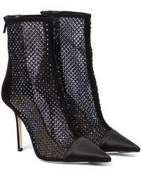 Jimmy Choo Verzierte Ankle Boots Marquis 100 - Schwarz