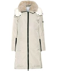 Yves Salomon Army Shearling-trimmed Down Parka - White