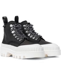 Proenza Schouler City Canvas Ankle Boots - Black