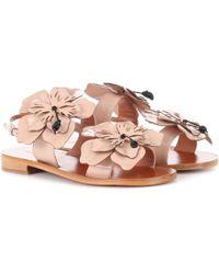 Miu Miu Sandalen aus Lackleder - Pink