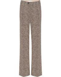 Chloé High-rise Wide-leg Herringbone Pants - Multicolor