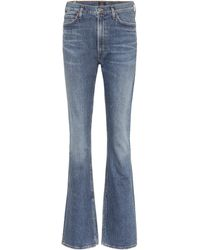 Citizens of Humanity High-Rise Flared Jeans Georgia - Blau