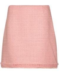 Tory Burch Minifalda de tweed mezcla de lana - Rosa