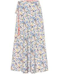 Polo Ralph Lauren Reversible Floral Midi Skirt - Blue