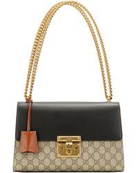 6d4276de3a89 Gucci - Padlock Gg Supreme Medium Leather And Coated Canvas Shoulder Bag -  Lyst