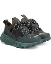 Ganni Sneakers Brooklyn mit Leder - Grün