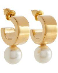 Simone Rocha Pearl Hoop Earrings - White
