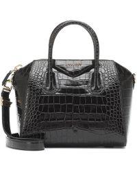 Givenchy Borsa Antigona Small in pelle stampata - Nero