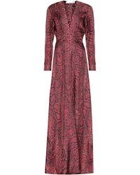 Victoria Beckham Bedrucktes Maxikleid aus Seide - Rot
