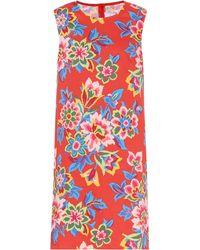 Carolina Herrera Kleid mit Blumen-Print - Rot