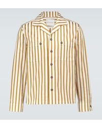 King & Tuckfield Camp-collar Long-sleeved Shirt - Multicolour