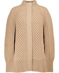 Alexander McQueen Wool And Cashmere Cape - Natural