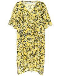 Diane von Furstenberg X Onia Hanna caftán floral - Amarillo