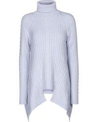 Alexander McQueen Jersey en mezcla de lana - Azul