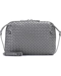 Bottega Veneta Nodini Leather Crossbody Bag in Natural - Lyst c794e5ab20e90