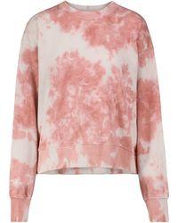 Velvet Felpa tie-dye True in cotone - Rosa