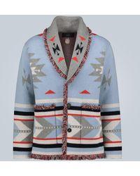 Alanui Cardigan Icon en jacquard de cachemire - Bleu
