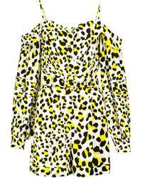 Diane von Furstenberg Susanna Leopard-print Crêpe Jumpsuit - Yellow