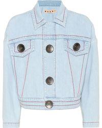 Marni Chaqueta de jean cropped - Multicolor
