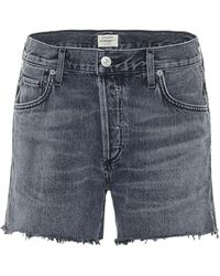 Citizens of Humanity Shorts Marlow de jeans tiro medio - Multicolor