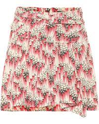 Isabel Marant Minifalda Roxana de seda elastizada - Rosa