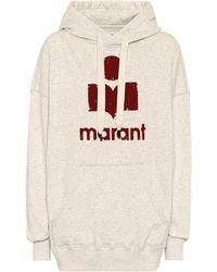 Étoile Isabel Marant Sweat-shirt Mansel à capuche en coton mélangé - Multicolore
