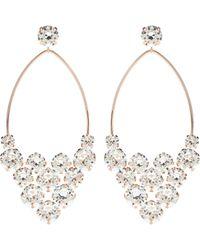 Isabel Marant Boucles d'oreilles à cristaux - Métallisé