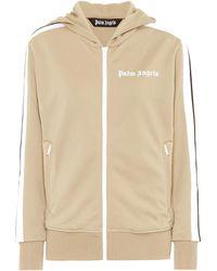 Palm Angels Logo Hoodie Track Jacket - Natural