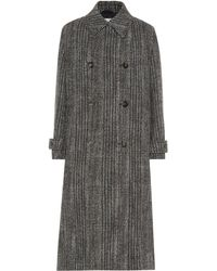 Stella McCartney Herringbone Wool-blend Coat - Black