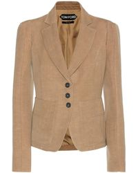 Tom Ford - Wool and Linen Blazer - Lyst