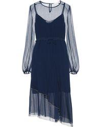 See By Chloé Chiffon Midi Dress - Blue